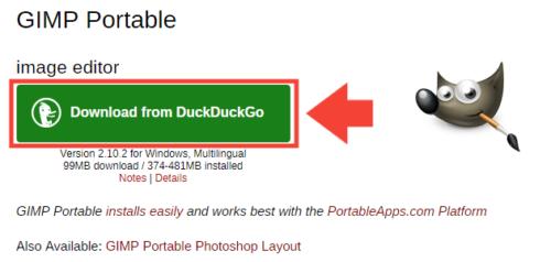 GIMPポータブル版の導入手順1