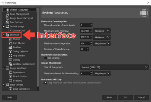 GIMP 言語を日本語に変更する2