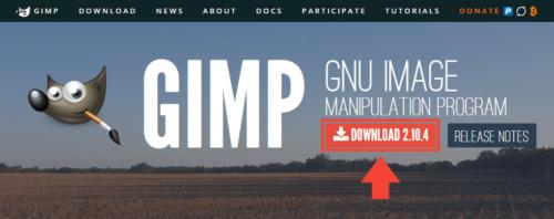 GIMP通常版の導入手順1