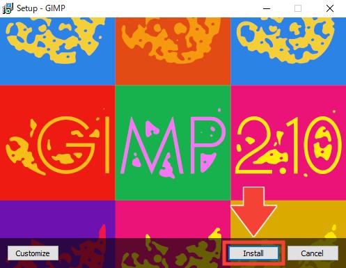 GIMP通常版の導入手順6