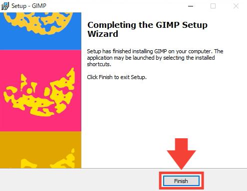 GIMP通常版の導入手順7