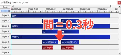 nicotalk(ニコトーク) 間の設定 微調整の初期値