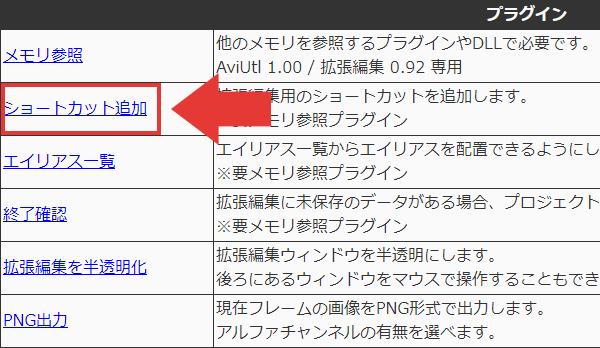 AviUtl ショートカット追加 ダウンロード