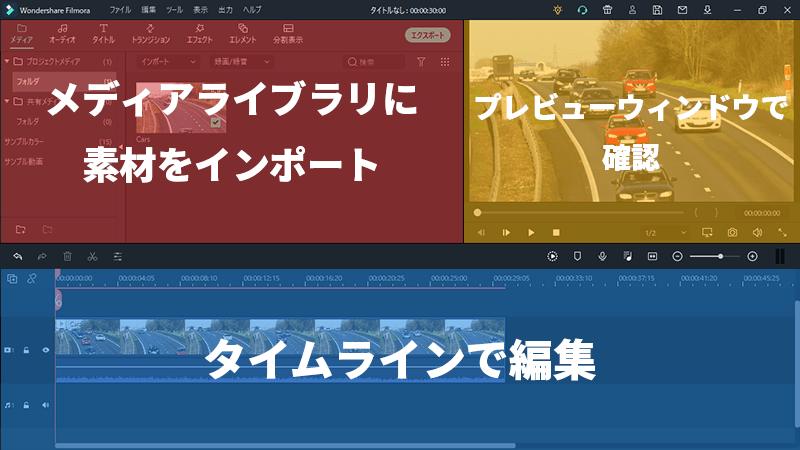 Filmora 動画編集の流れ