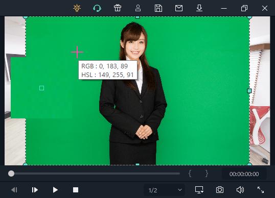 Filmora クロマキー 透明にする色を変更する