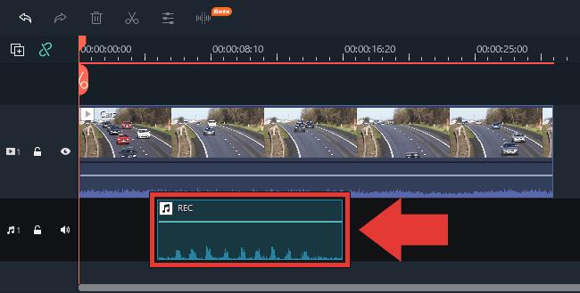Filmora 音声の録音方法